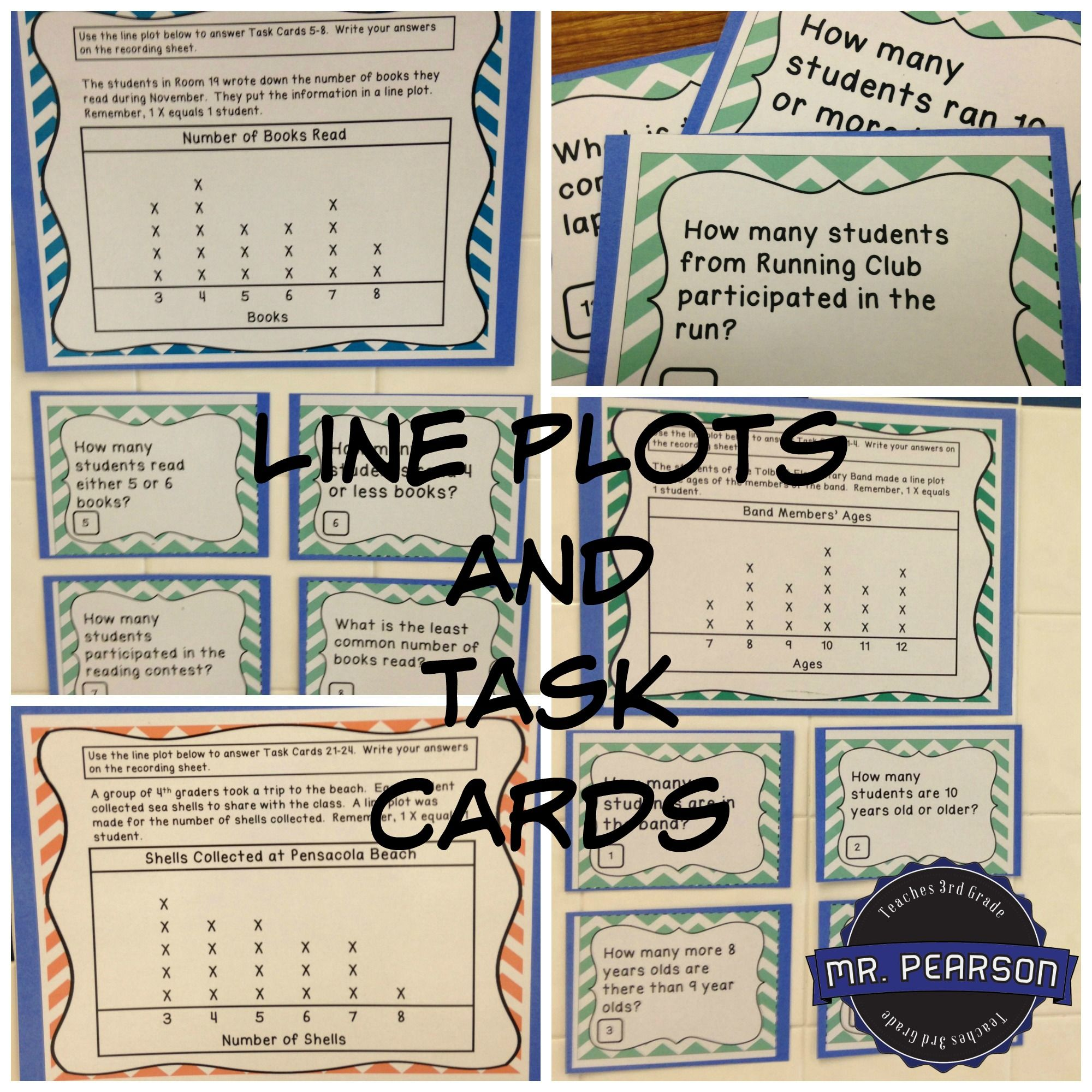 Line Plot Posters And Task Cards