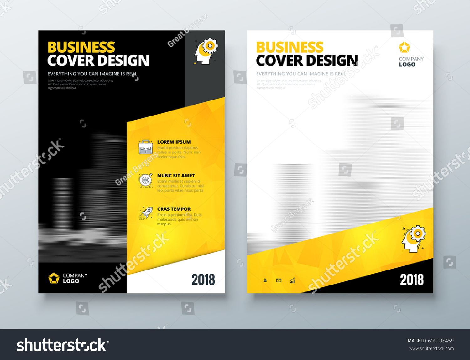 Brochure Design Black Yellow Corporate Business Template For