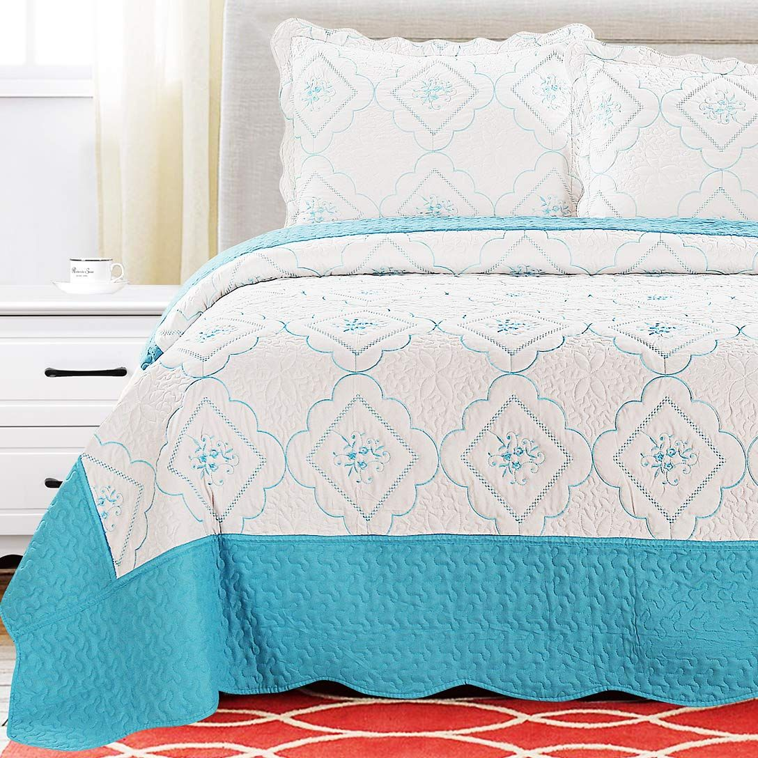 Unique Pattern Design Quilts For King Size Beds Summer