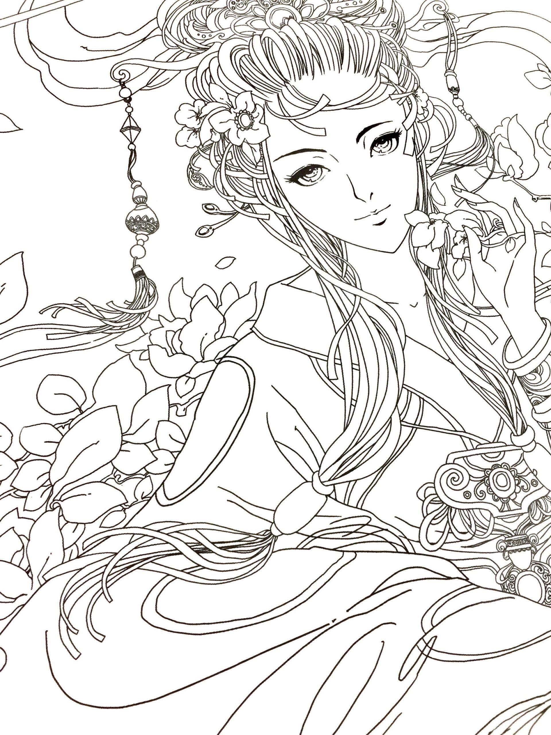 Tremendous Anime Coloring Book Online Pages Girl Free To Print Trong 2021 Y Tưởng Hinh Xăm Phac Thảo Hinh Xăm Hinh Xăm [ 2560 x 1920 Pixel ]