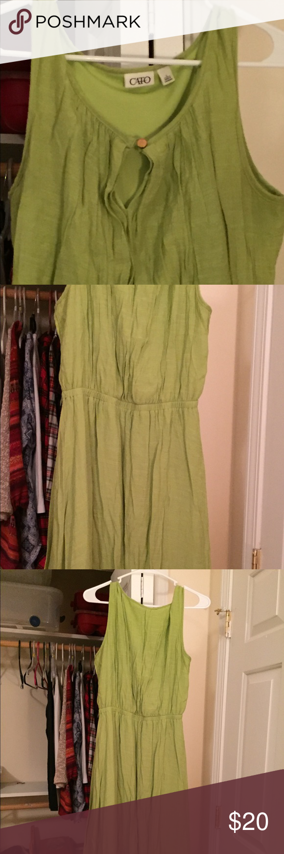Green dress. Size large green dress from catos. Wore a couple times. Good condition. Cato Dresses