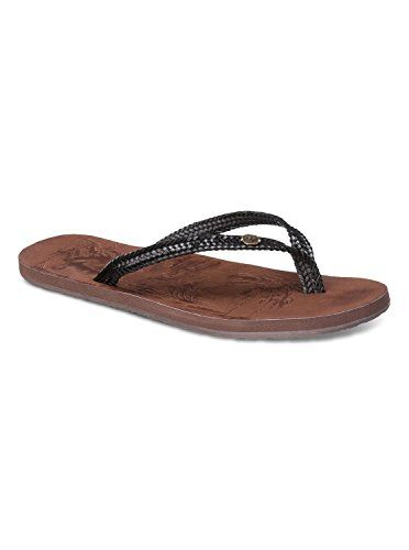 36791fc0eb5 Roxy Womens Chia II Sandals Flip Flop Flip Flop Black 7 M US     This is an  Amazon Affiliate link. Continue to the product at the image link.
