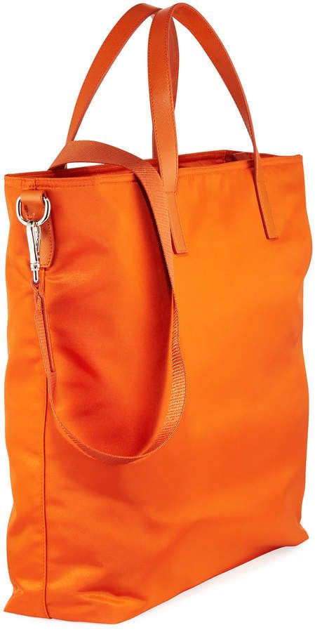 958cd713115c62 Donna Lady Nylon Shopper Tote Bag Papaya | Products | Shopper tote ...
