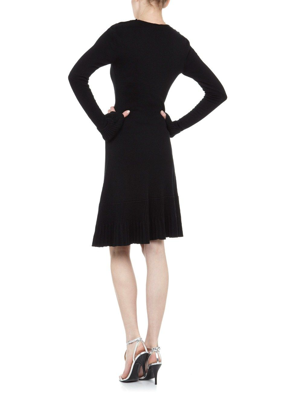 Black cashmere marina dress azzaro avenue shoes bags