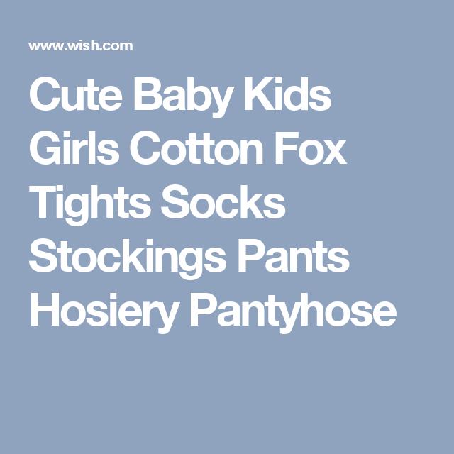 Cute Baby Kids Girls Cotton Fox Tights Socks Stockings Pants Hosiery Pantyhose
