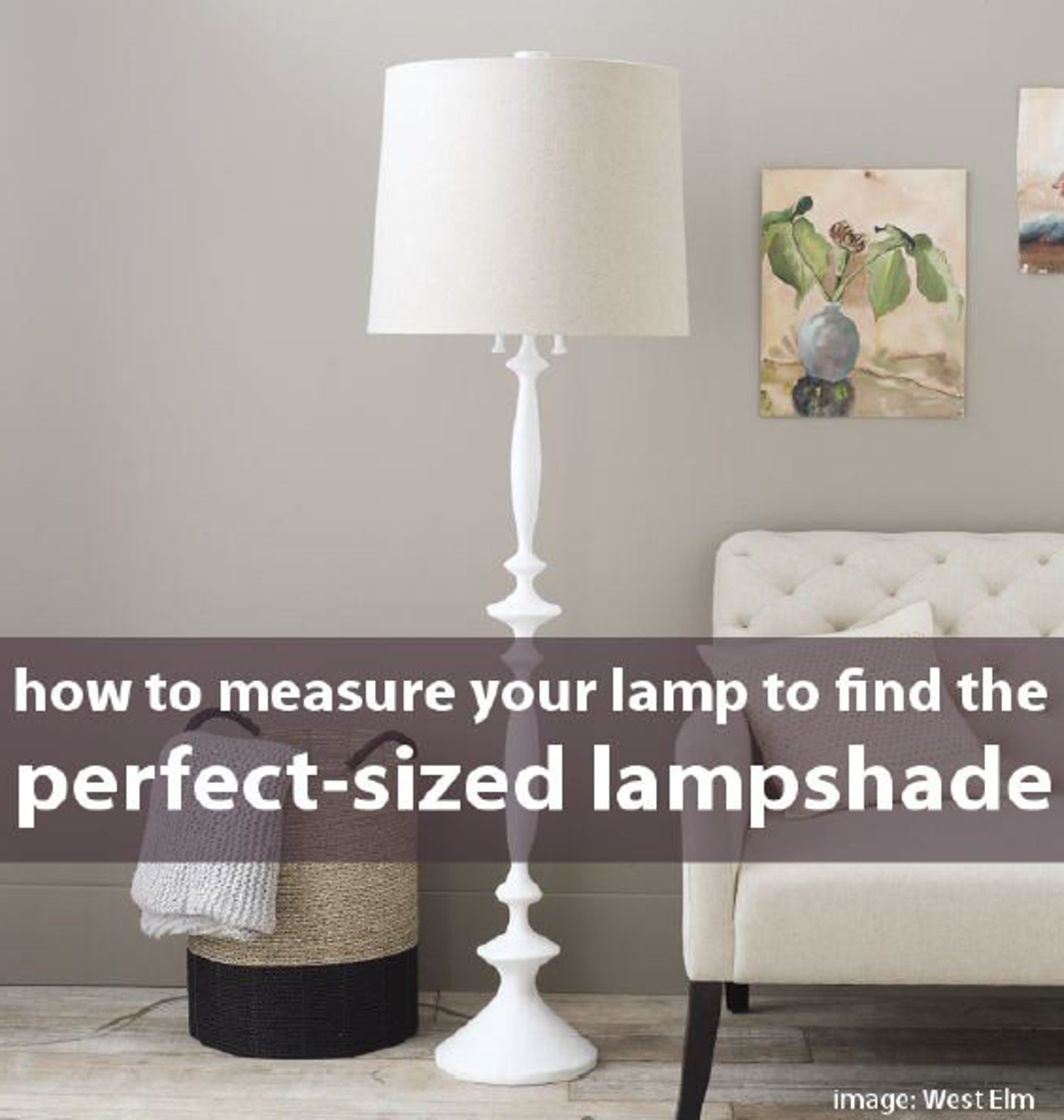 How To Measure Lamp Shade Amusing Measure Your Lamp To Find The Right Sized Lampshade  Lamp Bases Inspiration