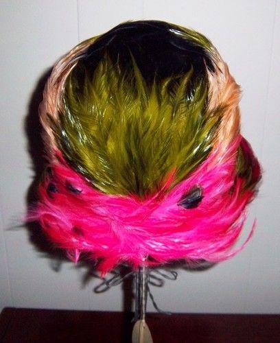 Vintage Retro Christian Dior Feather Velvet Hat Never Worn   eBay