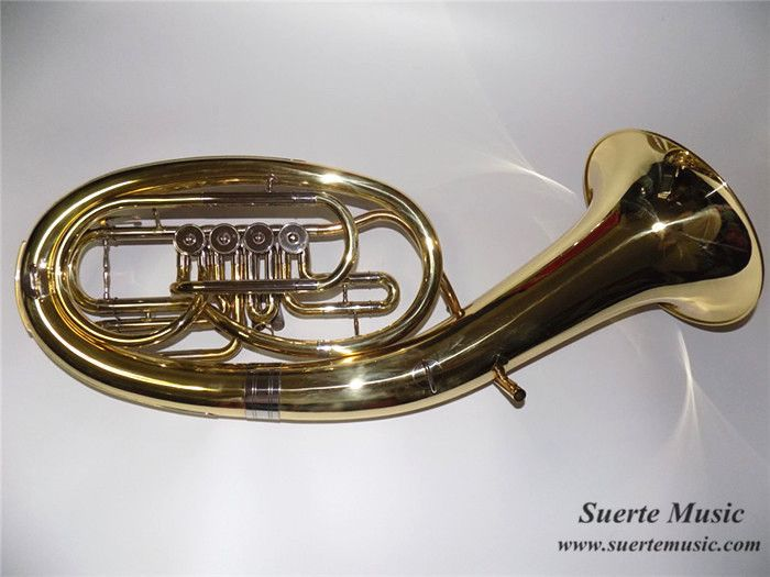 Bb Baritone Four valves With Foambody case Brass Body Lacquer surface Musical instruments OEM Wholesale