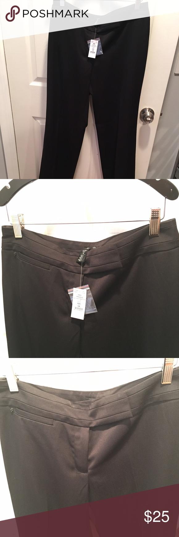 Black Slacks White and Black store. Beautiful black slacks perfect for the office. White House Black Market Pants Boot Cut & Flare