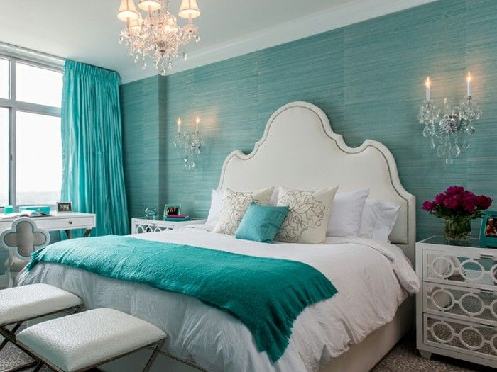 1001 Inspirierende Ideen Fur Wandfarbe Turkis Turquoise