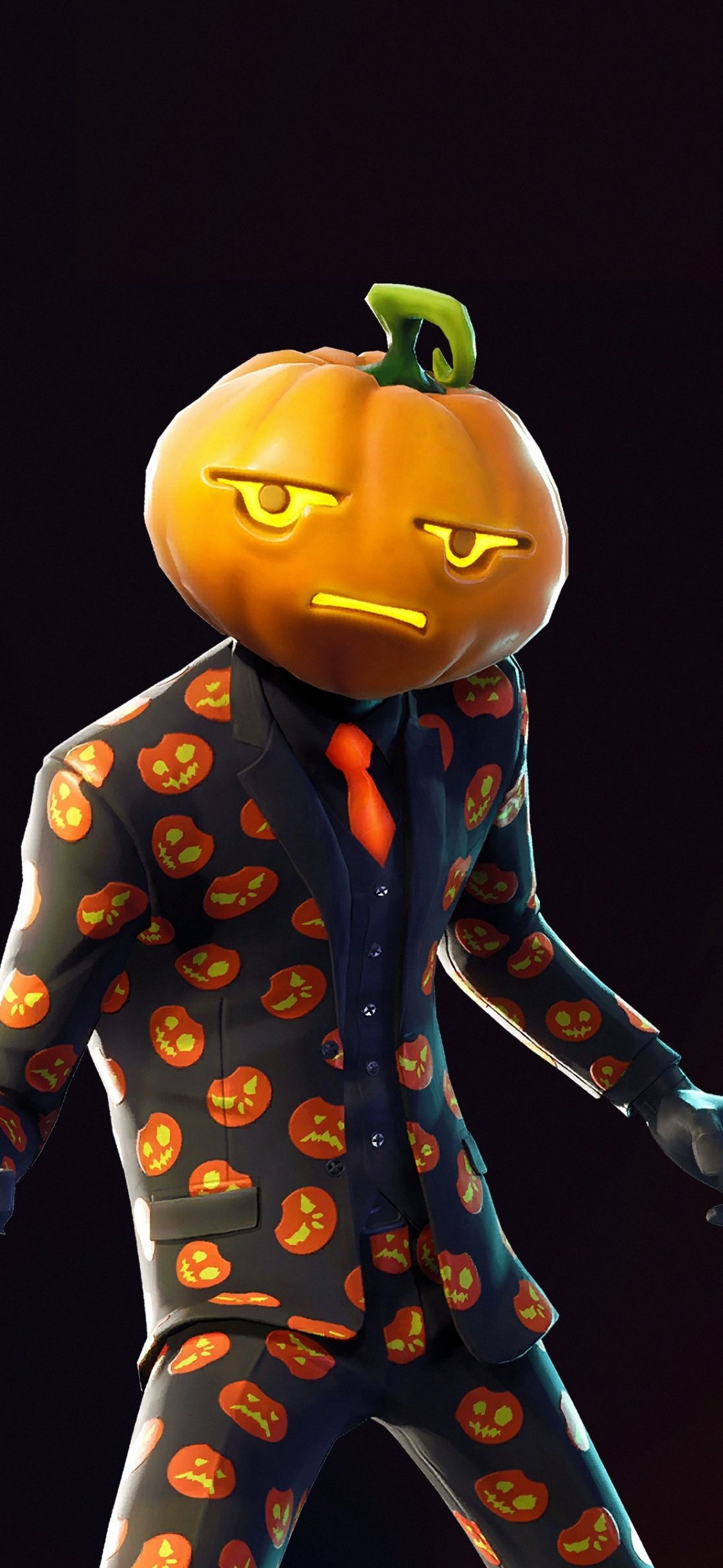 Halloween, pumpkin, pumphead, skin, Fortnite, 2018