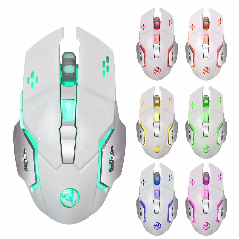 M10 Wireless Gaming Mouse 2400dpi Rechargeable 7 color Backlight For Computer