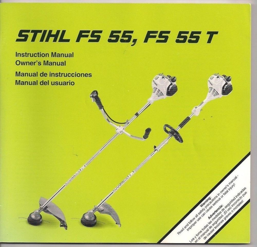 Stihl FS55 & 55T Brush Cut Owners Instruction Maintenance