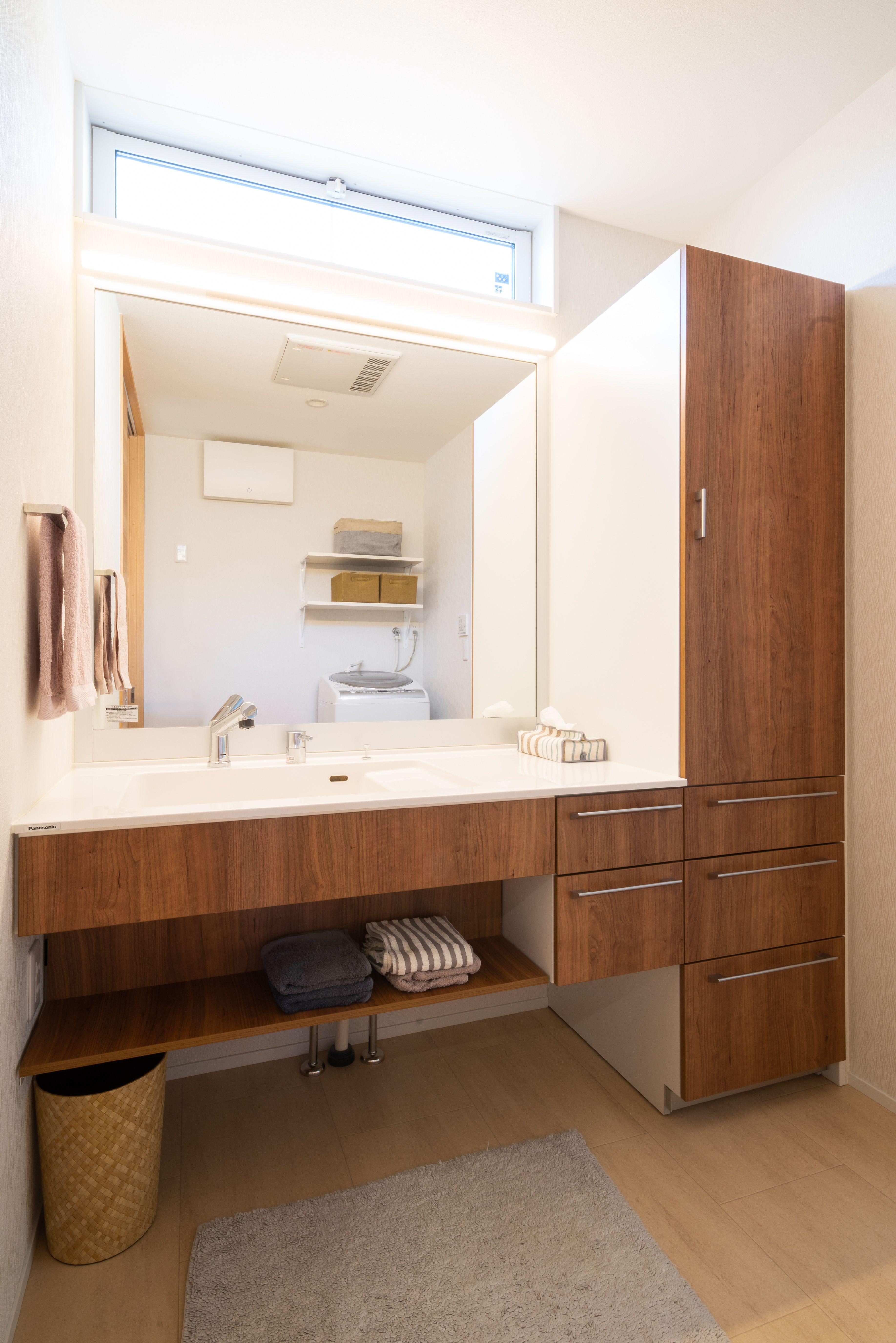キッチン 洗面 ランドリー 浴室が直線上にあるママ楽な動線