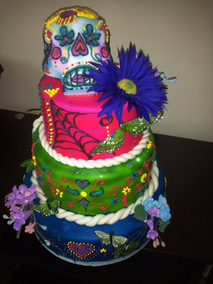 Day Of The Dead Themed Wedding Cake 12 Tier 9 Tier 7 Tier