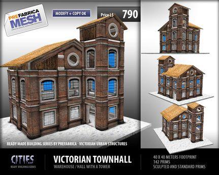 Prefabrica Cities Victorian Townhall Prices Crash Sale House Styles City Virtual World