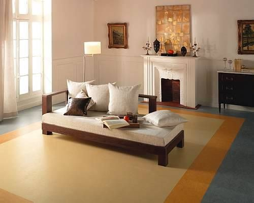 Living Room With Fireplace And Linoleum Flooring Trendzona