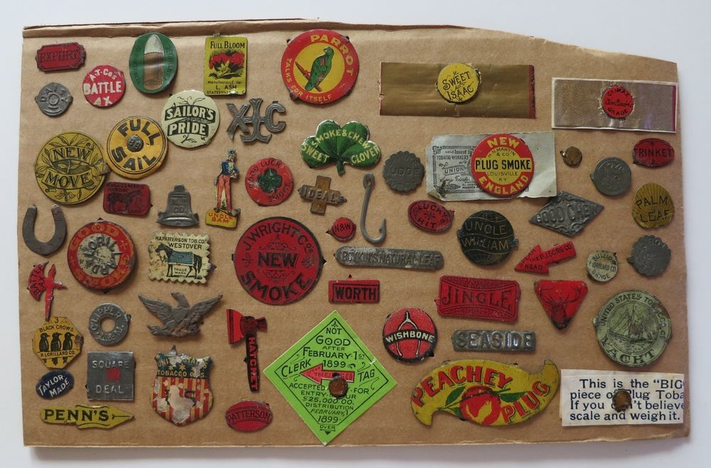 56 ANTIQUE TOBACCO TAGS - SOME SCARCE AND RARE