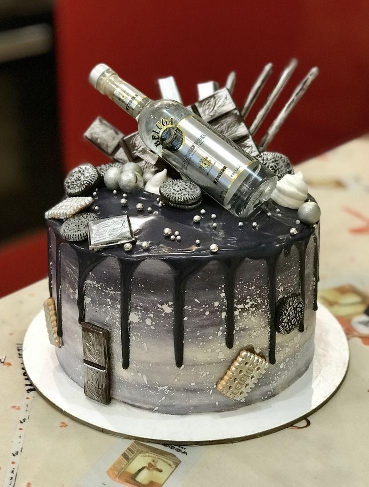 Pin By Saloni Atul On Grooms Cake Liquor Cake Alcohol Cake Birthday Cake Decorating