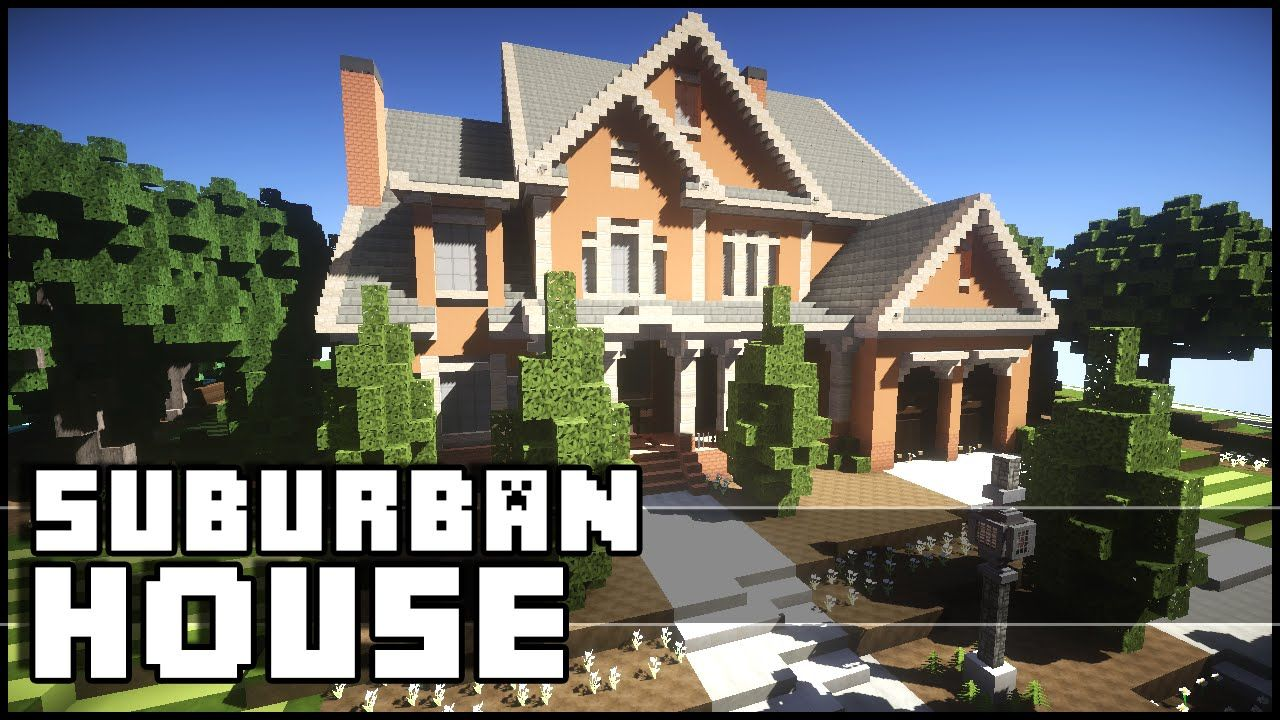 Minecraft Beautiful Suburban House Minecraft Suburban House