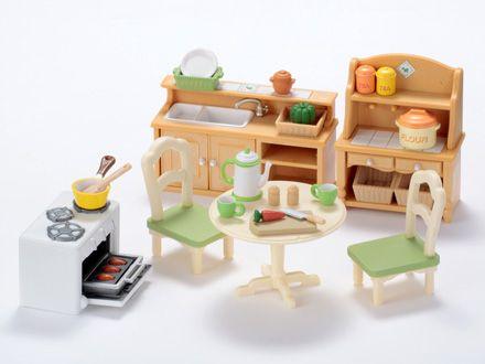 Dining Room Set Cuisiner Ensemble Familles Sylvanian Et Idees