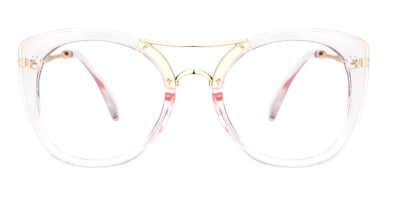 fa1ddf8c56 Olivia Aviator Transparent Pink Glasses VFP0276-01 ...