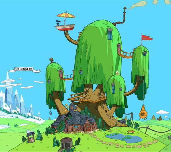 Adventure Time background by Ghostshrimp.