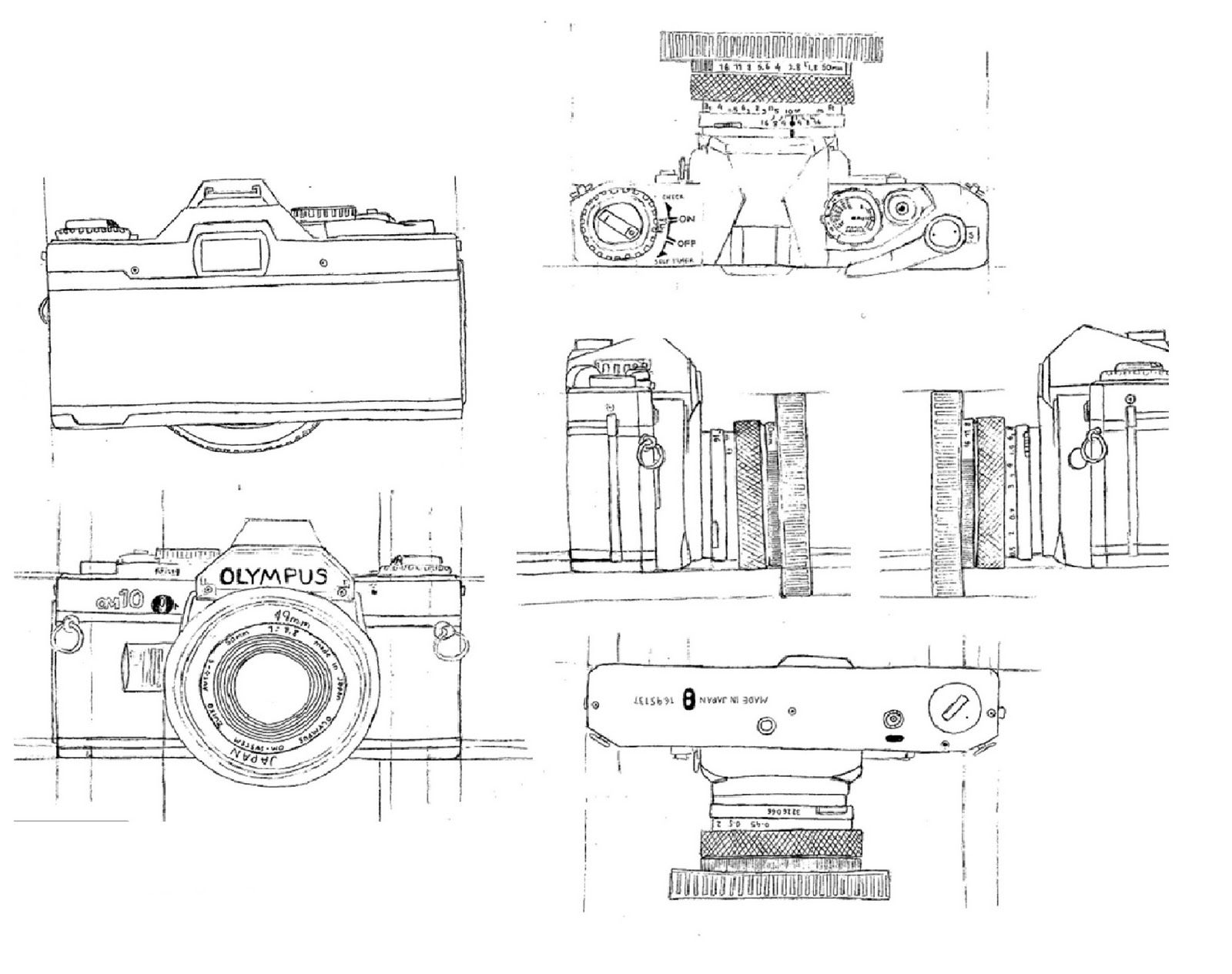 Camera Drawing Simple Old Camera Simple Drawing