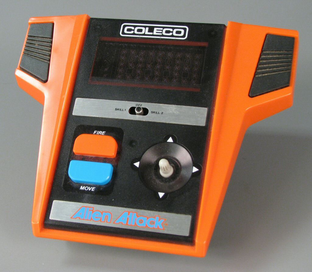 Coleco alien attack handheld video games video game