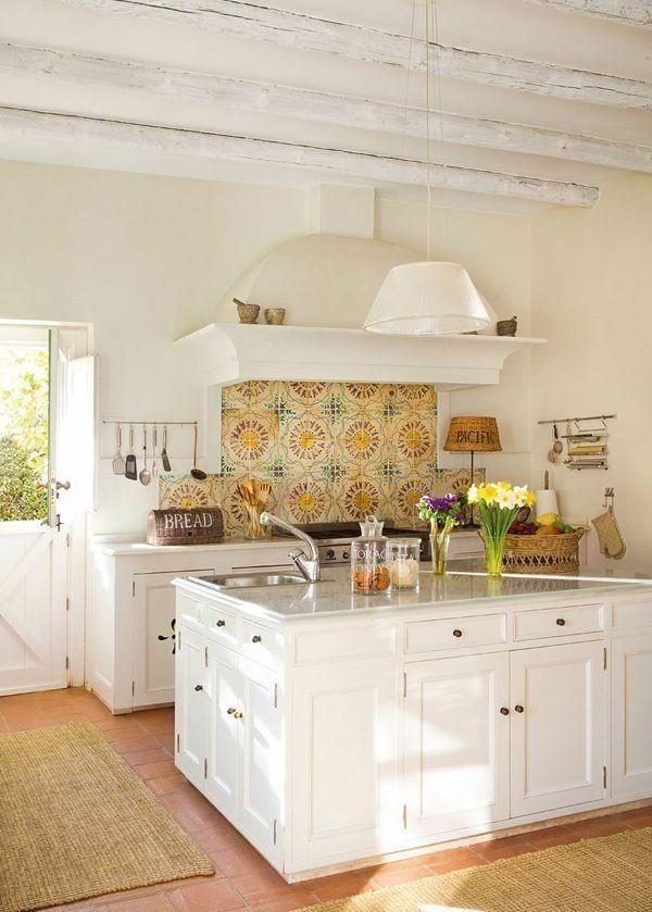 concevoir une d coration de cuisine campagnarde et l gante cuisines rustiques tomette et. Black Bedroom Furniture Sets. Home Design Ideas