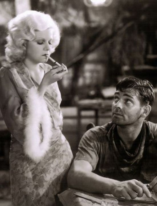 Gable and Jean Harlow