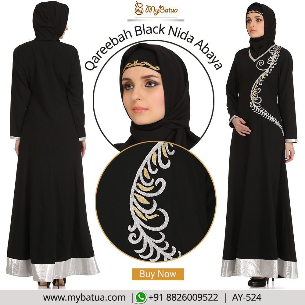 Lace umbrella abaya  Qareebah Black Nida Abaya  Abayas Abaya fashion and Bald hairstyles