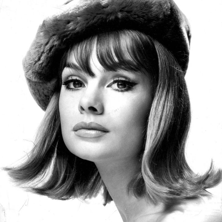 Model Jean Shrimpton with the flip--a popular hairstyle of the 1960s