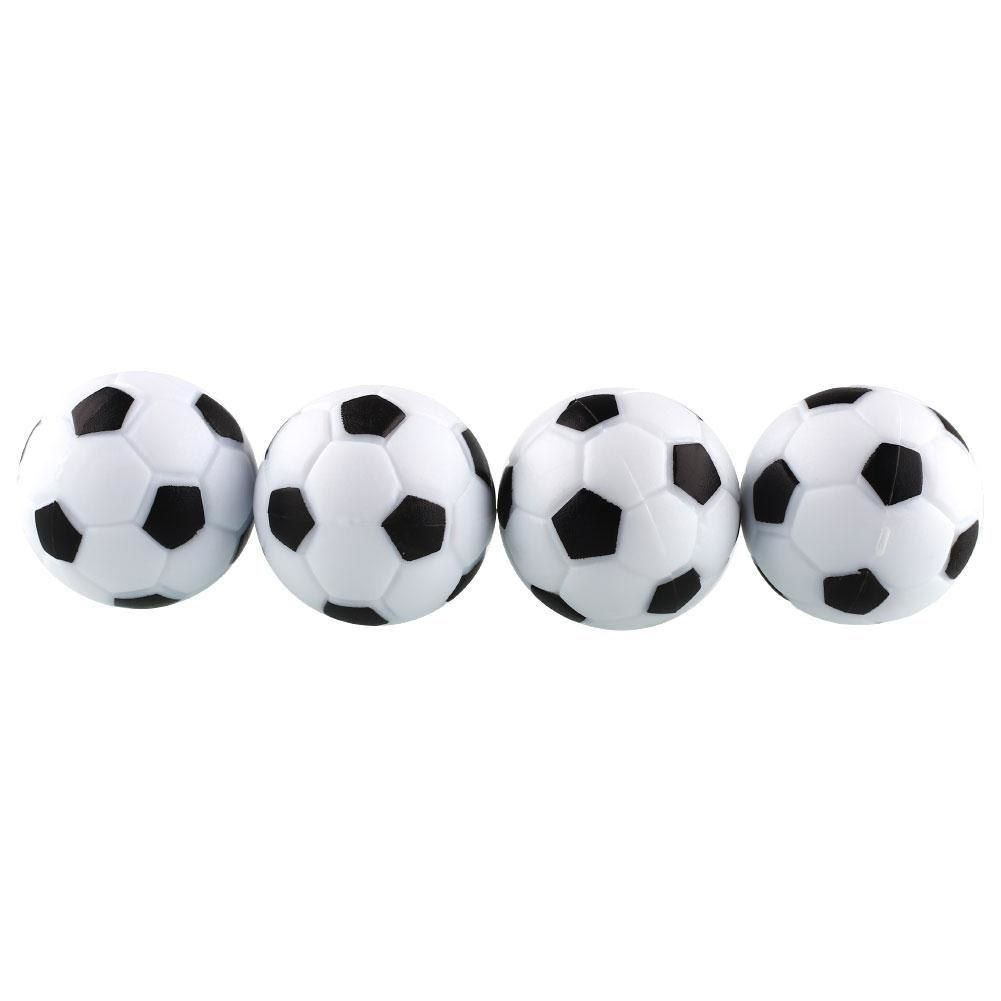 New Fun Plastic 4pcs 32mm Soccer Foosball Ball Fussball Indoor Game Black+White*