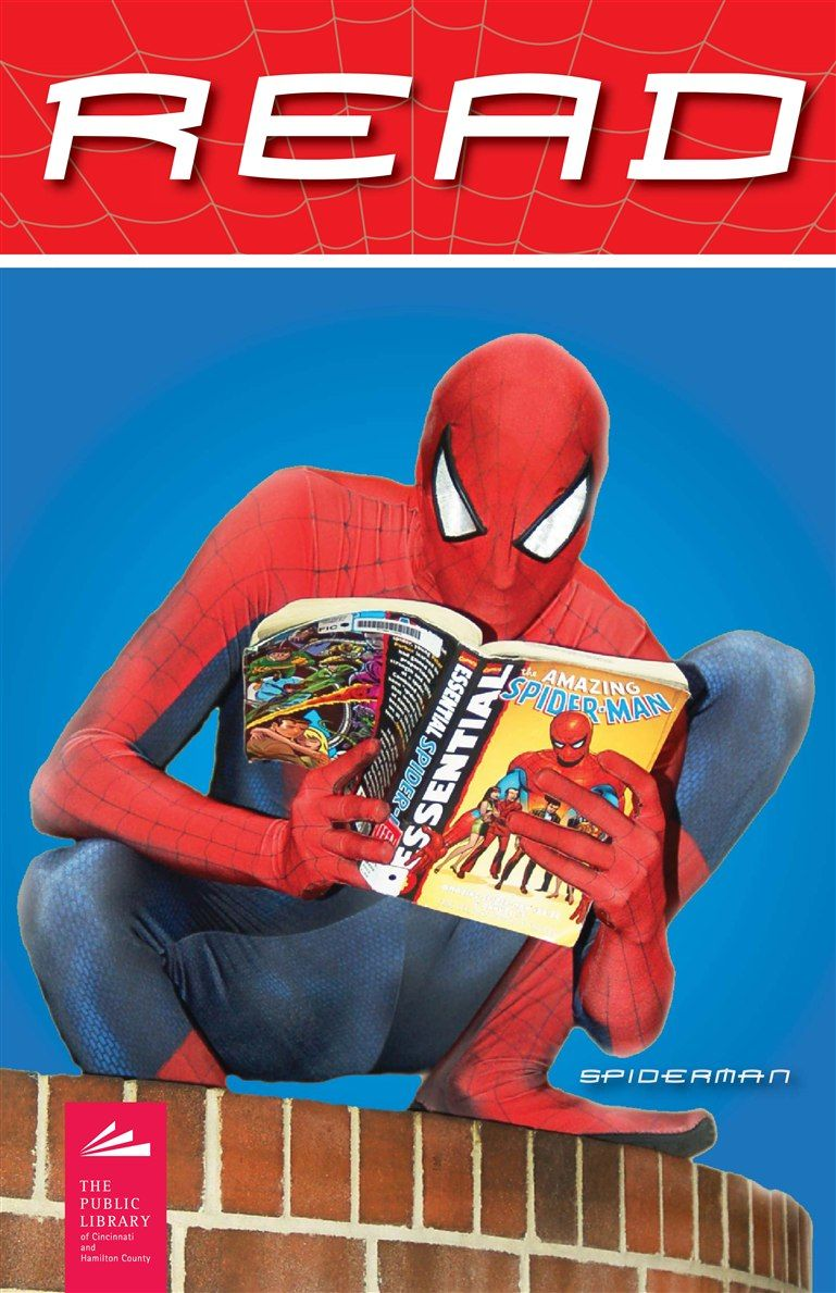 Spiderman knows that reading is a super power the public - Poster super heros ...