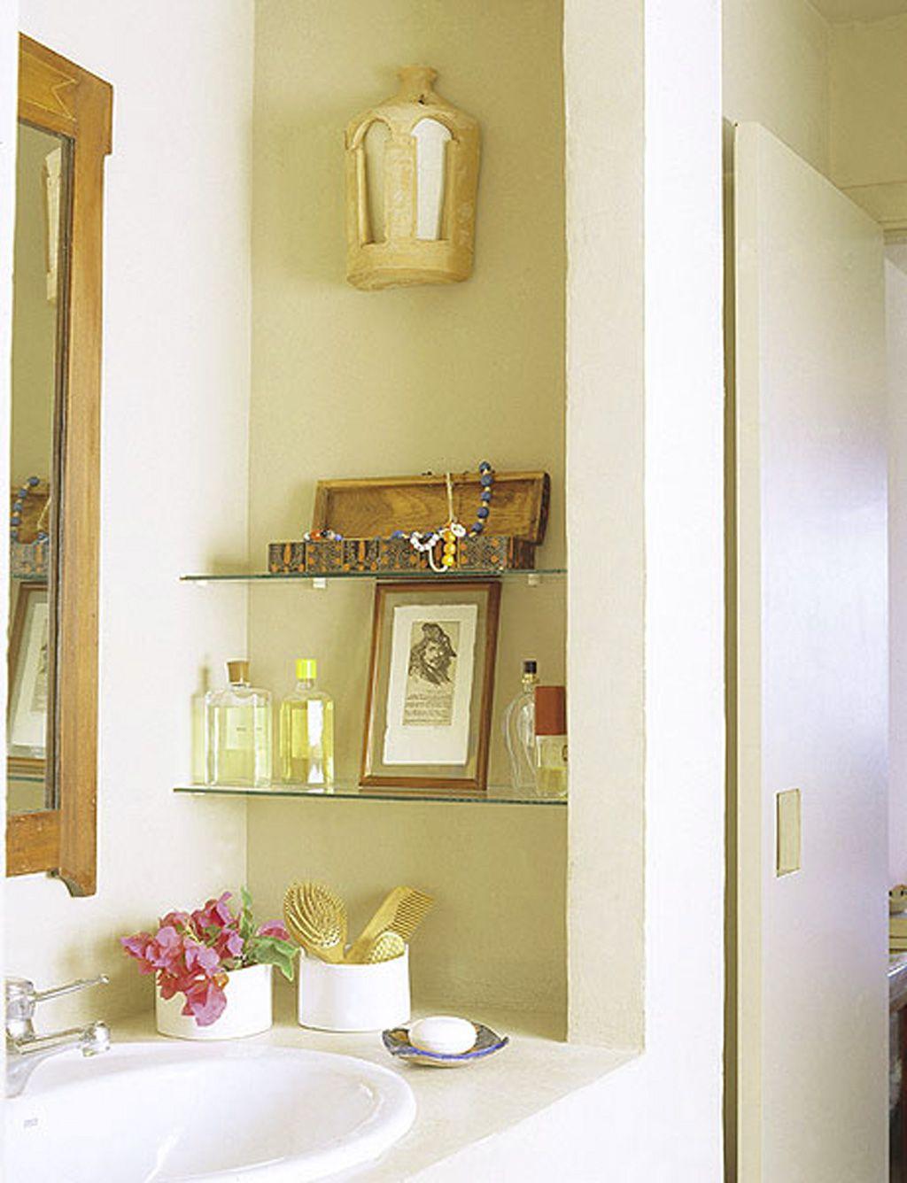 Bathroom , Simple Bathroom Storage Ideas : Cool Simple Bathroom ...