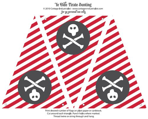 Birthday Party Ideas for Boys with Free Printables – Free Pirate Party Invitations