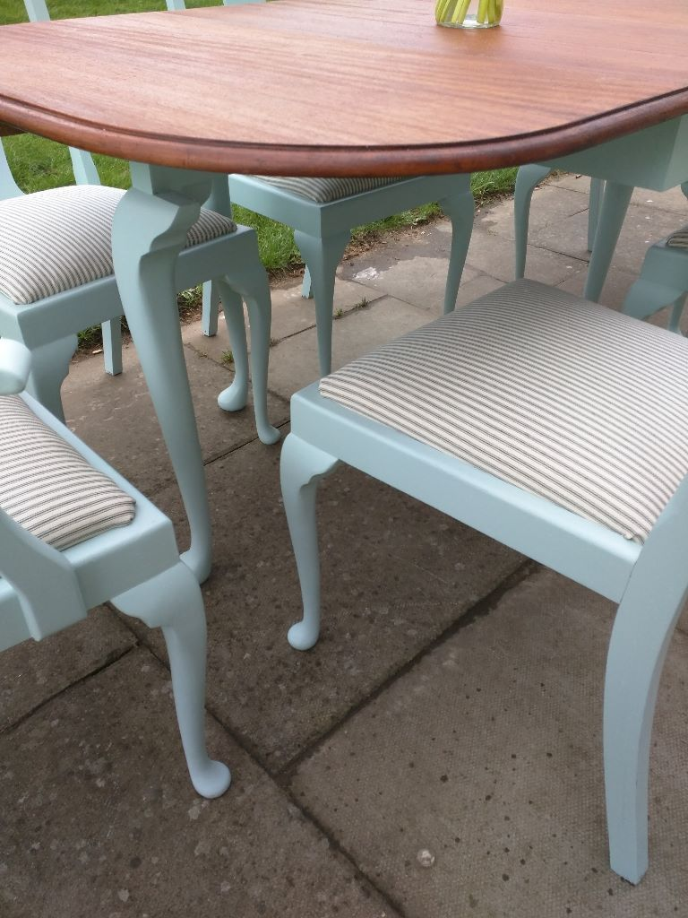 Queen anne style dining table chairs room