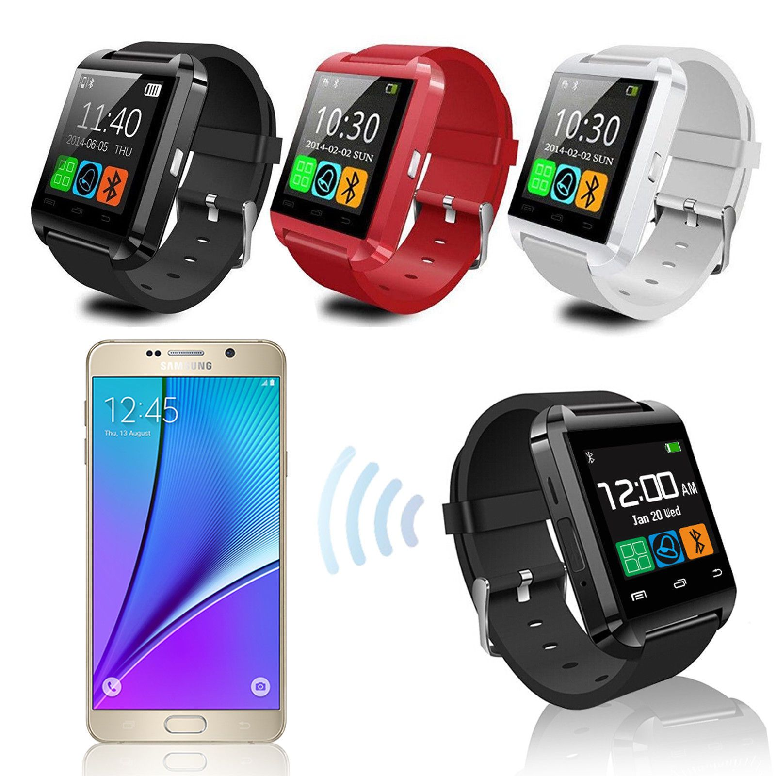 Bluetooth Smart Wrist Watch Phone Mate For Android IOS Samsung iPhone LG Item specifics Condition New A brand new unused unopened undamaged item in its