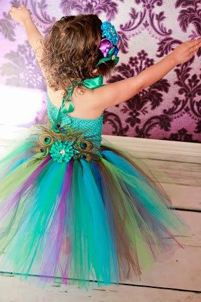 Peacock tutu dress baby toddler girls feather fan clip fancy head piece included stunning on Etsy, $75.00