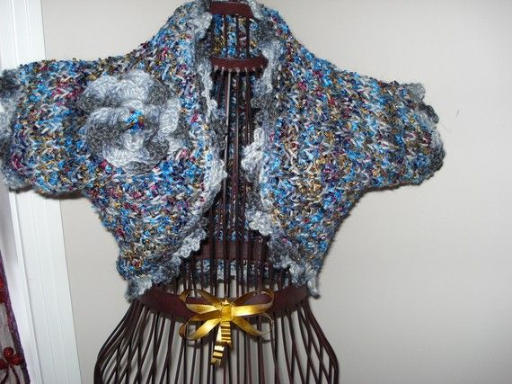 Ready to ship /GORGEOUS Hand Knitted and Crochet Heavenly by ufer, $45.00