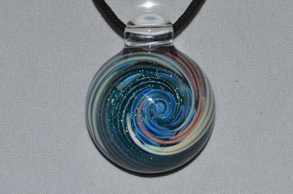 Blown Glass Dichro Pendant Heady Glass Pendant Heady Glass