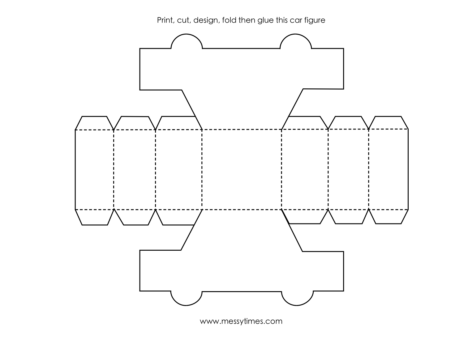 A 3d Car Object To Cut Design Fold And Glue Together