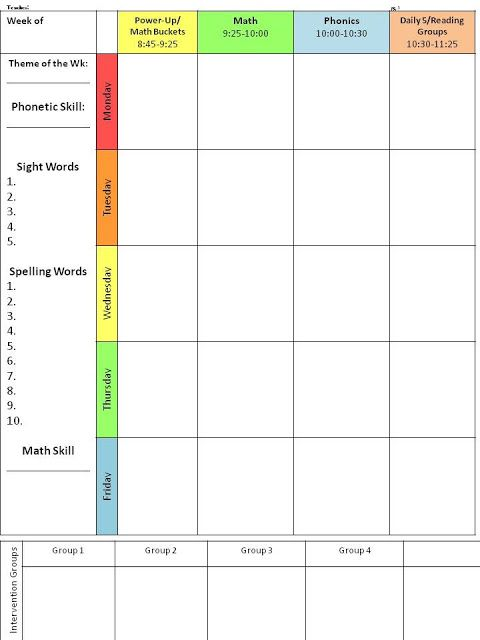 For the Love of First Grade Throwback Thursday {Planning Template - lesson plan templates free