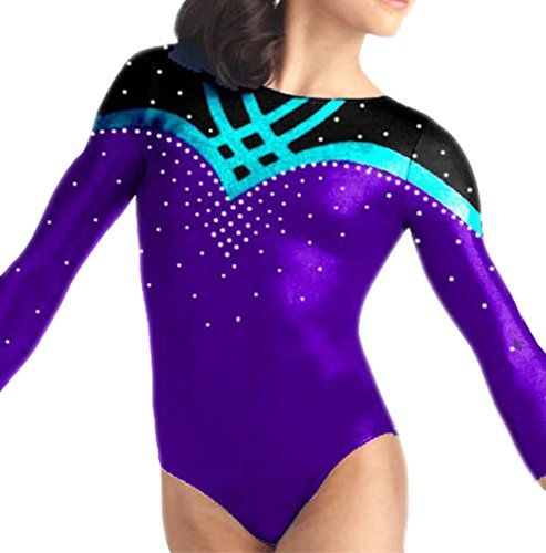 dbb2164f8 Amazon.com  Demi Gymnastics Leotard Mystic with Rhinestone TL033 ...