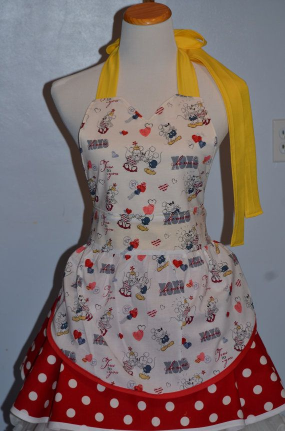 Minnie Apron Valentine Apron Cooking Apron Ready To By ApronStyle