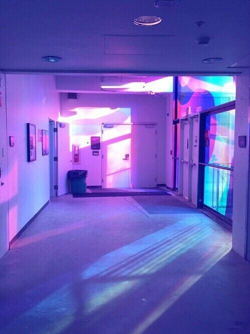 room purple grunge aesthetic neon vaporwave colors violet retro visit wave place