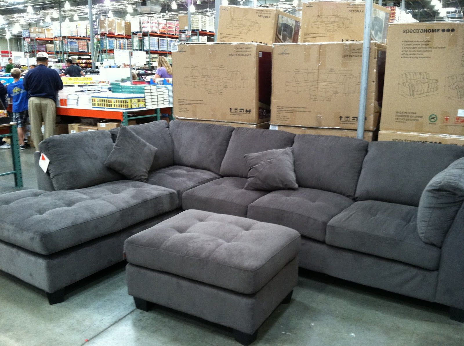 Hayden Sectional Sofa Costco Pet Couch Bed Cushion Chair Cover Blanket Sleeper Gray Living Room Furniture