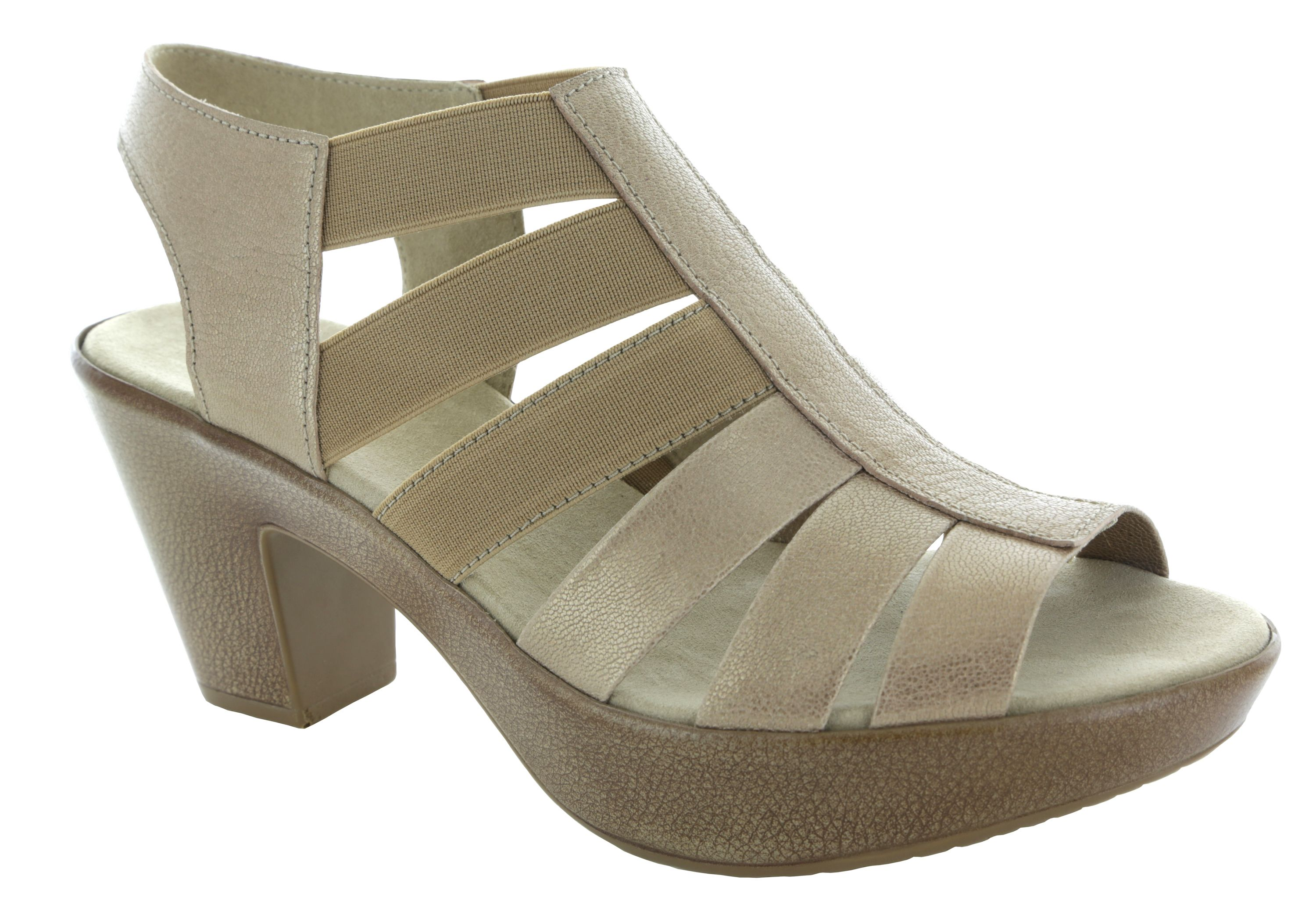 e382a949ed0 Munro Cookie in metallic gold with leather and elastic straps. M386051