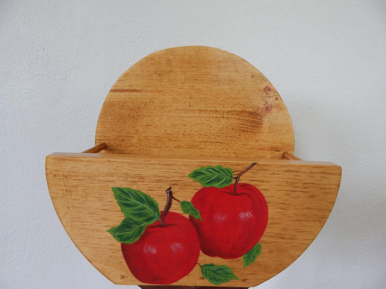 Paper Plate Holder Apple Paper Plate Holder Apple decor Apple Kitchen Wooden & Paper Plate Holder Apple Paper Plate Holder Apple decor Apple ...